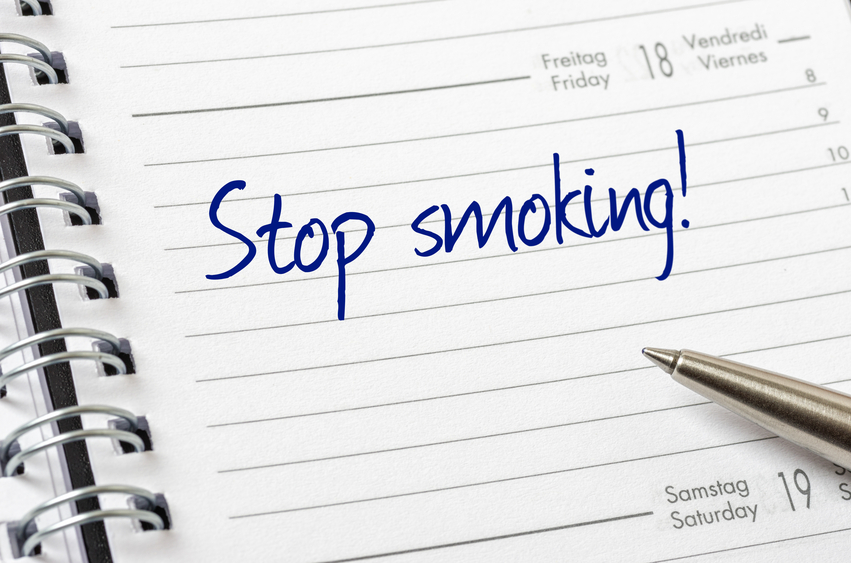 Arrêter de fumer est écrit sur un calendrier page